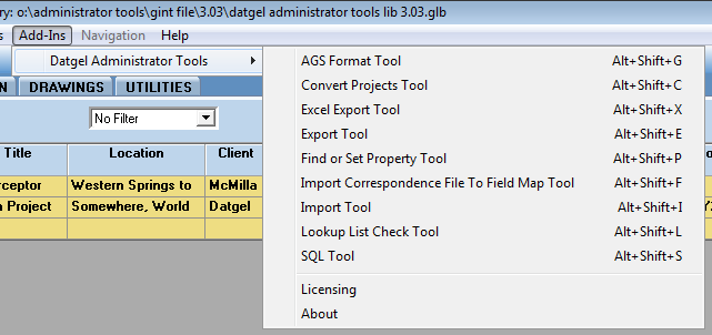 Running the Tool Add-Ins - Administrator Tools